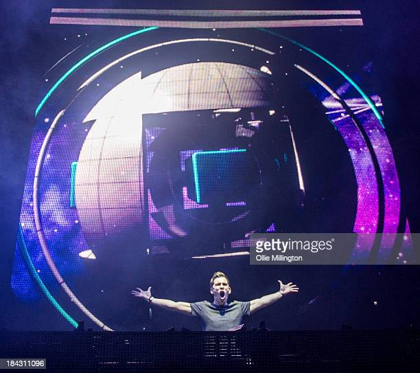 Hardwell performs during a date of the I Am Hardwell tour at Brixton Academey on October 12 2013 in London England