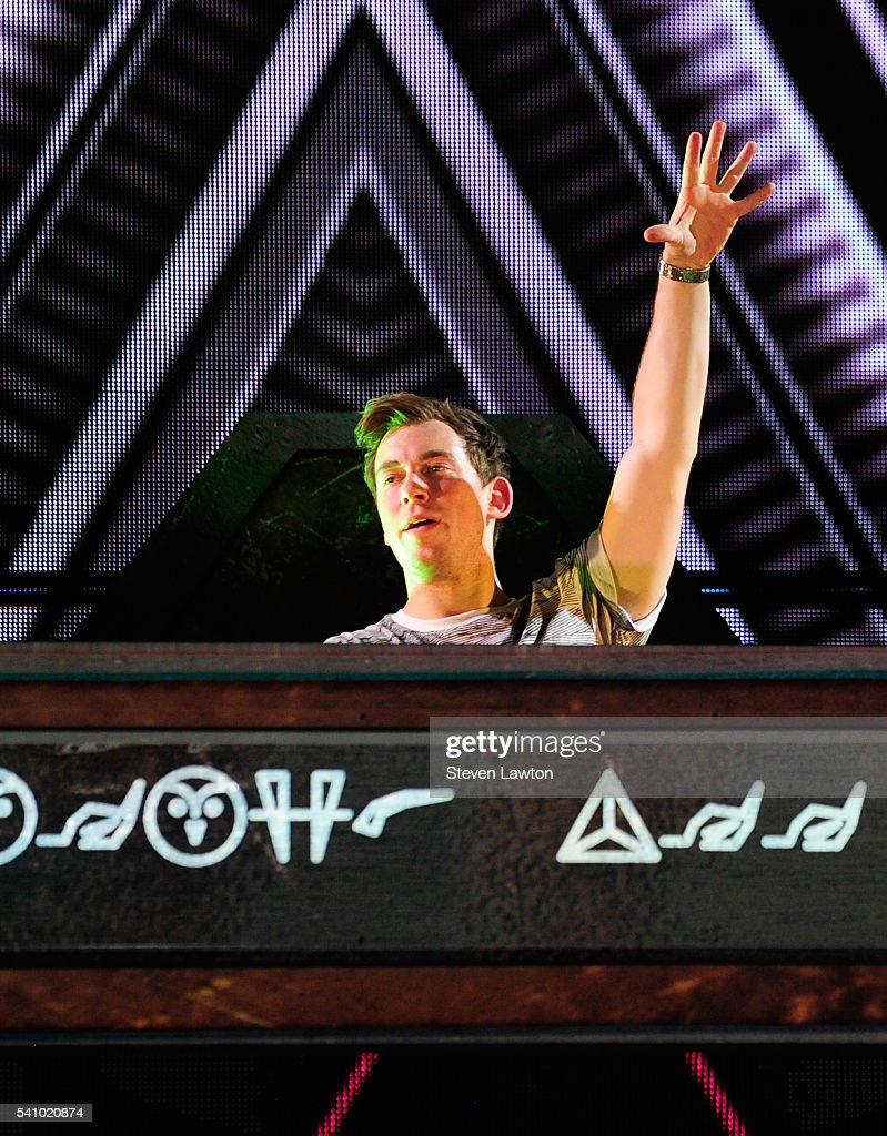 Hardwell performs during the 20th annual Electric Daisy Carnival at Las Vegas Motor Speedway on June 17 2016 in Las Vegas Nevada