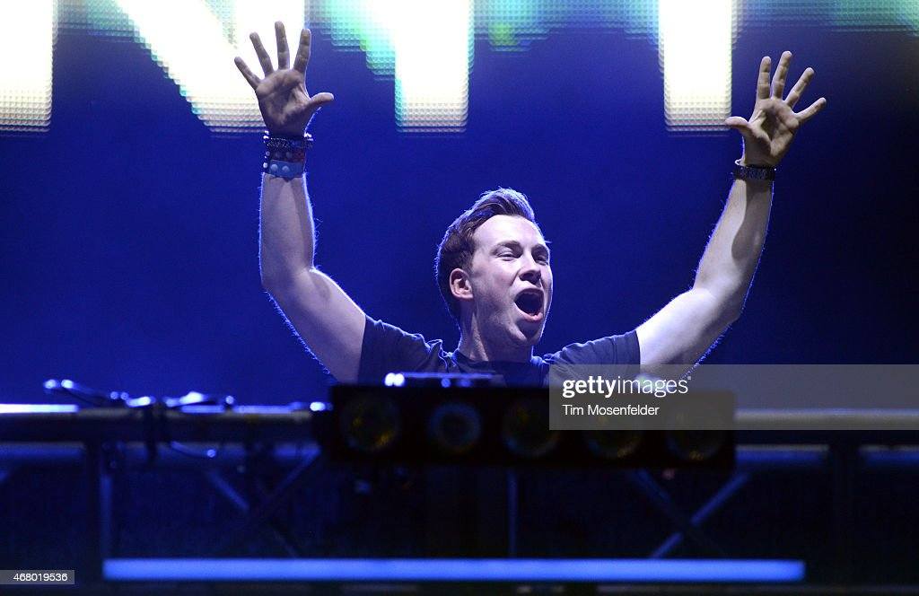 Hardwell performs during the Ultra Music Festival at Bayfront Park Amphitheater on March 28 2015 in Miami Florida