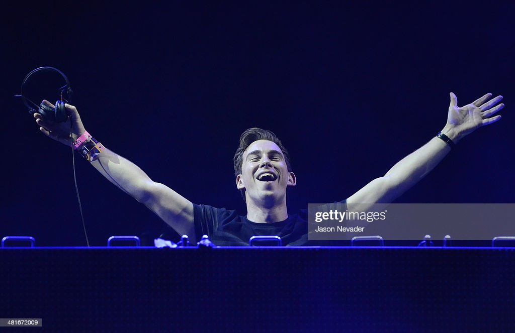 Hardwell performs during Ultra Music Festival at Bayfront Park Amphitheater on March 30 2014 in Miami Florida