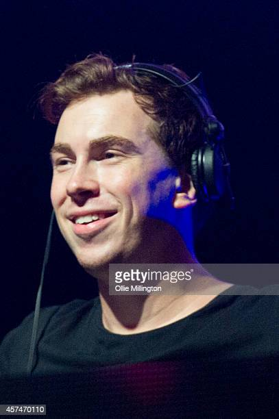 Hardwell performs on stage hours after being crowned DJ Mag no1 DJ in the world for a second year in a row at the DJ Mag Top 100 Poll Party Show at...