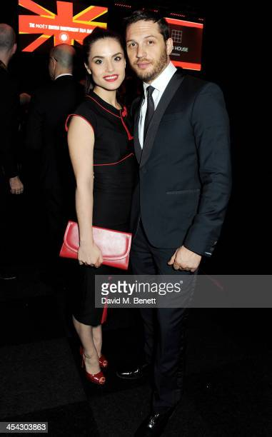 Hardy and Charlotte Riley attend the Moet Reception at the Moet British Independent Film Awards 2013 at Old Billingsgate Market on December 8 2013 in...