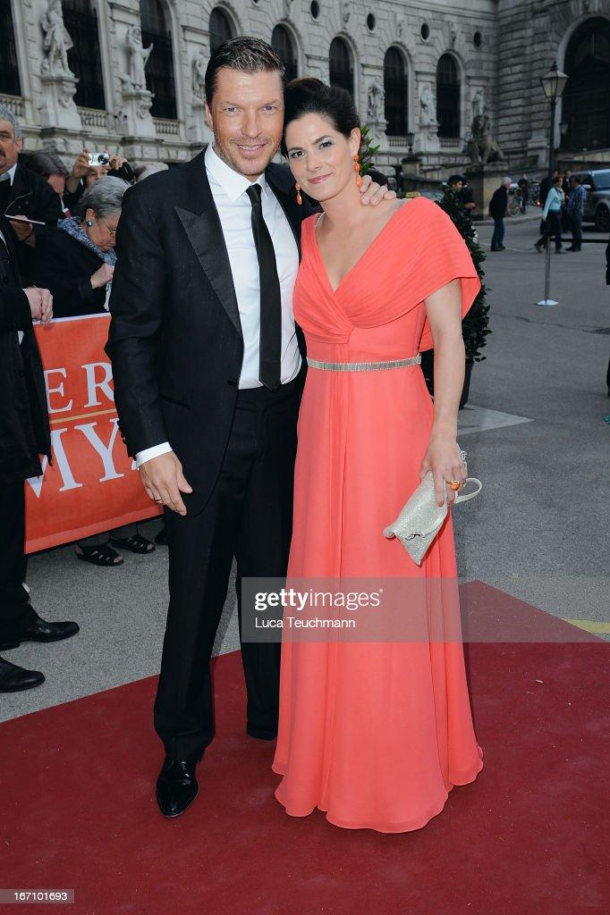 Hardy Krueger Jr. and Katrin Fehringer attend the 'Romy Award 2013' at Hofburg Vienna on April 20, 2013 in Vienna, Austria.