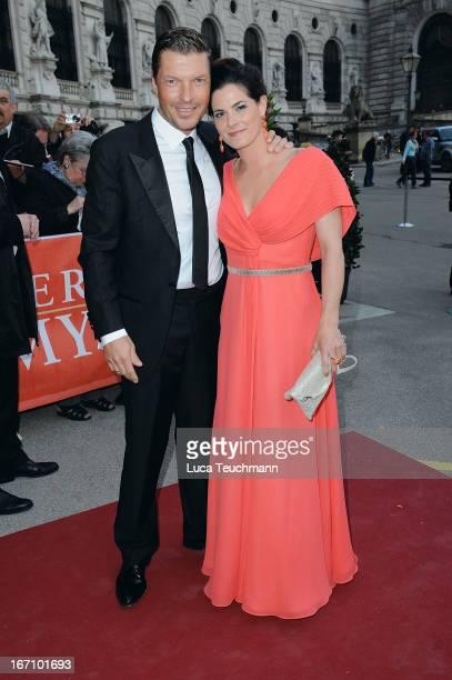 Hardy Krueger Jr and Katrin Fehringer attend the 'Romy Award 2013' at Hofburg Vienna on April 20 2013 in Vienna Austria