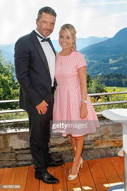 Hardy Krueger Jr and Sandra Bernadotte attend the Audi Night 2015 on July 31 2015 in Berchtesgarden Germany