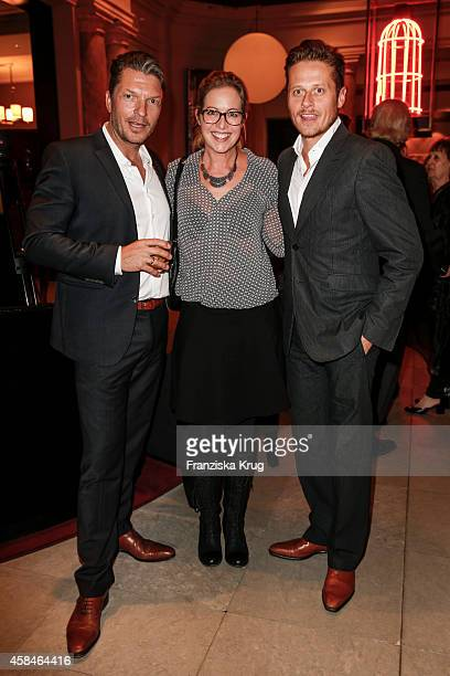 Hardy Krueger jr Stefanie Mensing and her husband Roman Knizka attend the ReOpening of the 'La Banca' restaurant at Hotel de Rome on November 05 2014...