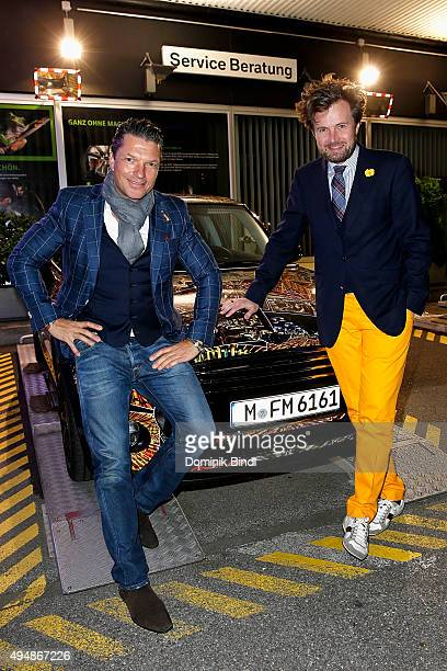 Hardy Krueger jun and Michael von Hassel attend the premiere of the new MINI Clubman on October 29 2015 in Munich Germany