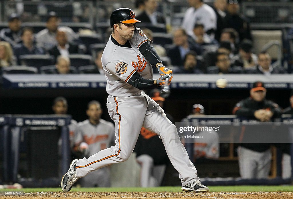<a gi-track='captionPersonalityLinkClicked' href=/galleries/search?phrase=J.J.+Hardy&family=editorial&specificpeople=216446 ng-click='$event.stopPropagation()'>J.J. Hardy</a> #2 of the Baltimore Orioles connects on a fifth inning double against the New York Yankees at Yankee Stadium on May 2, 2012 in the Bronx borough of New York City.