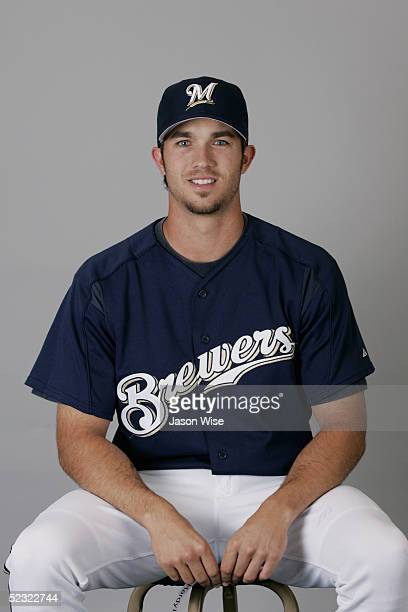 J Hardy of the Milwaukee Brewers poses for a portrait during photo day at Maryvale Stadium on March 1 2005 in Phoenix Arizona