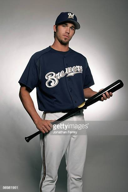J Hardy of the Milwaukee Brewers poses for a portrait during the Milwaukee Brewers Media Day on February 27 2006 at Maryvale Stadium in Maryvale...