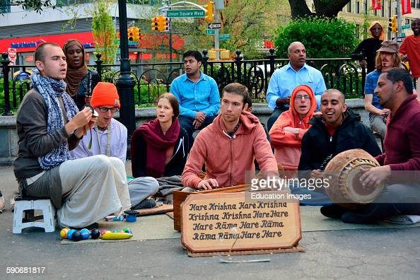 Hare Krishnas Gathering Union Square NY