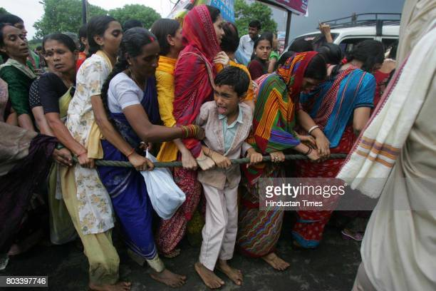 MUMBAI INDIA JUNE 27 2006 Hare Rama Hare Krishan ISKCON 10yearold Raju Ranjan resident of Mira Road student of BMS English High School gets squashed...