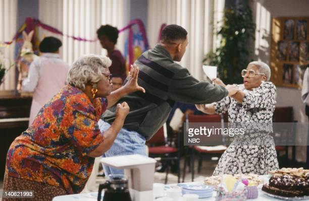 AIR THE 'Hare Today' Episode 18 Pictured Loretta Jean as Woman Will Smith as William 'Will' Smith Jeri Gray as Woman Photo by Chris Haston/NBCU Photo...