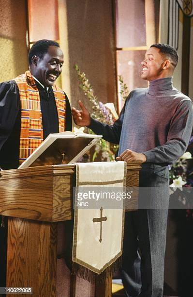 AIR THE 'Hare Today' Episode 18 Pictured Richard Roundtree as Rev Gordon Sims Will Smith as William 'Will' Smith Photo by Chris Haston/NBCU Photo Bank