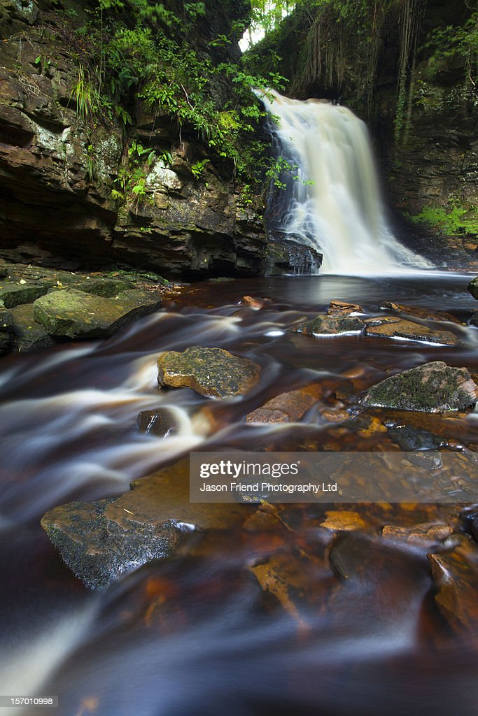 Hareshaw Linn, Bellingham, Northumberland : Stock Photo