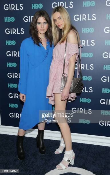 Hari Nef and Andreja Pejic attend The New York Premiere Of The Sixth Final Season Of 'Girls' at Alice Tully Hall Lincoln Center on February 2 2017 in...