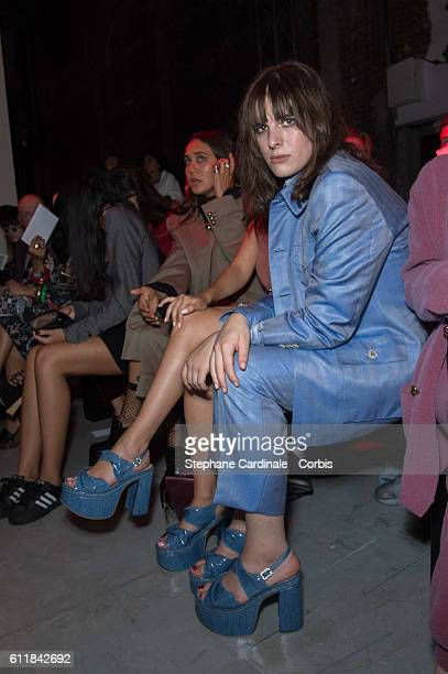 Hari Nef attend the Vivienne Westwood show as part of the Paris Fashion Week Womenswear Spring/Summer 2017 on October 1 2016 in Paris France