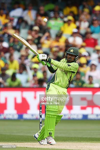 Haris Sohail of Pakistan bats during the 2015 ICC Cricket World Cup match between Australian and Pakistan at Adelaide Oval on March 20 2015 in...