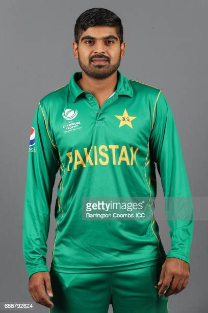 Haris Sohail of Pakistan poses during the portrait session at the Malmaison Hotel on May 26 2017 in Birmingham England