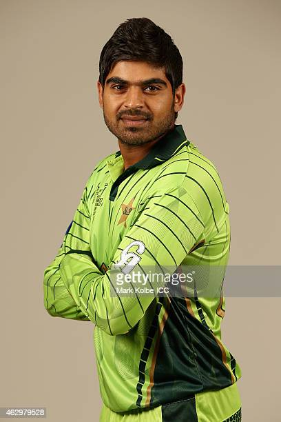 Haris Sohail poses during the Pakistan 2015 ICC Cricket World Cup Headshots Session at the Sheraton Hotel on February 8 2015 in Sydney Australia