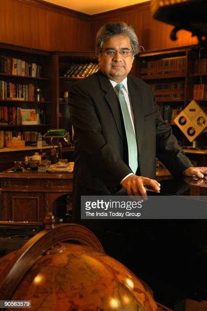 Harish Salve lawyer and former solicotor general of India in his study