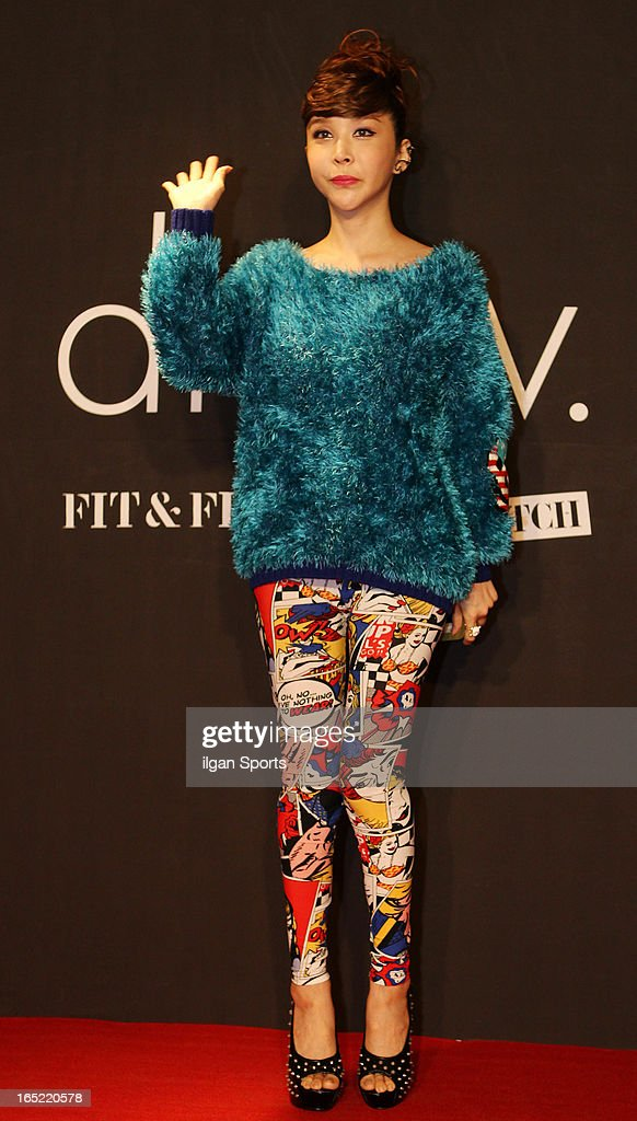 Harisu attends the 'drww.' launch & beauty talk concret at Conrad Hotel on March 28, 2013 in Seoul, South Korea.