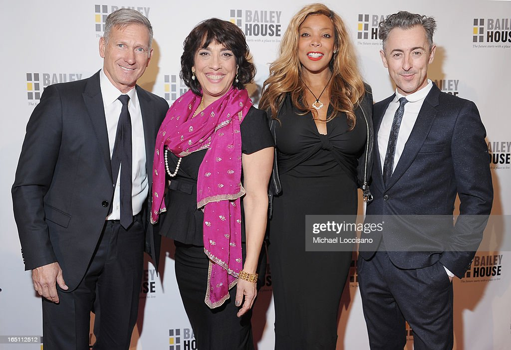 Harlan Bratcher, Bailey House CEO Regina Quattrochi, TV personality Wendy Williams and actor Alan Cumming attend the Bailey House 30th Anniversary Gala at Pier 60 on March 28, 2013 in New York City.