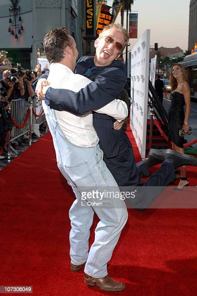 Harland Williams and Andy Dick during 'Employee of the Month' Premiere Red Carpet at Mann's Chinese Theater in Hollywood California United States