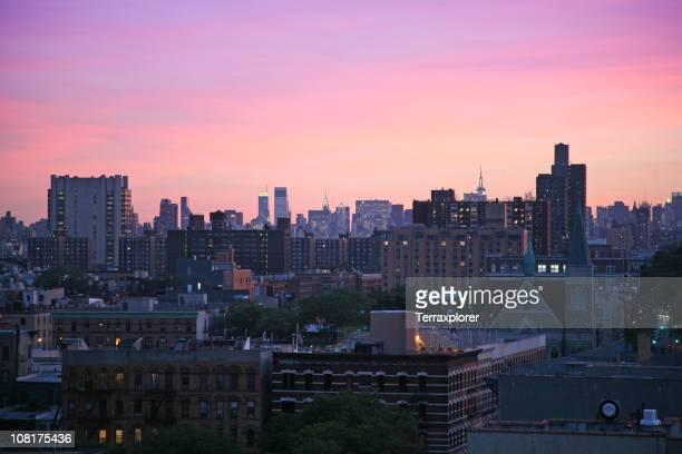 Harlem Cityscape At Dusk