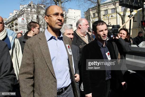 Harlem DESIR / Benoit HAMON Manifestation du 19 mars 2009 Paris