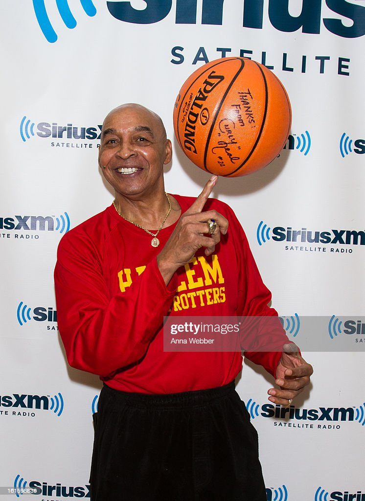 Harlem Globe Trotter Curly Neal visits SiriusXM Studios on February 12, 2013 in New York City.