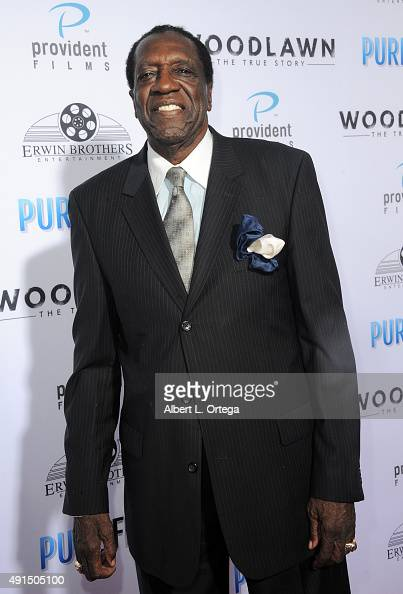 Harlem Globetrotter Meadowlark Lemon arrives for the LA Premiere Of Pure Flix's 'Woodlawn' held at Regency Bruin Theater on October 5 2015 in...