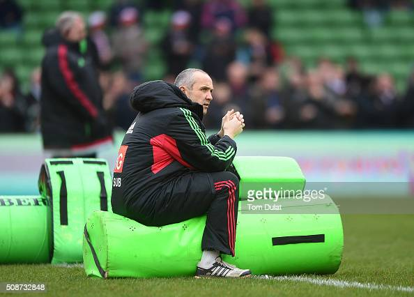 Harlequins' Director of Rugby Conor O'Shea looks on prior to the Aviva Premiership match between Harlequins and Northampton Saints at Twickenham...
