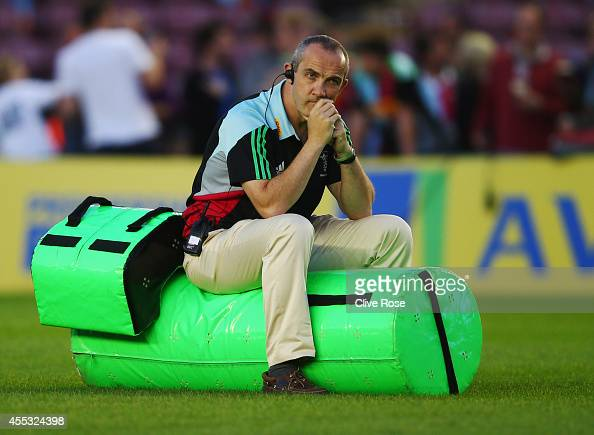 Harlequins Director of Rugby Conor O'Shea looks thoughtful prior to the Aviva Premiership match between Harlequins and Saracens at Twickenham Stoop...