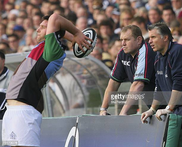 Harlequins head coach Dean Richards watches from the sidelines during the Guinness Premiership match between Bristol and NEC Harlequins at the...