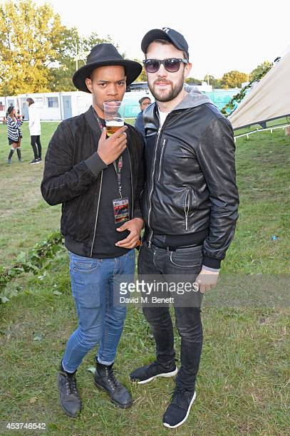 Harley AlexanderSule and Jack Whitehall attend the Mahiki Rum Bar for the launch of the Mahiki Rum Family backstage during day 2 of the V Festival...
