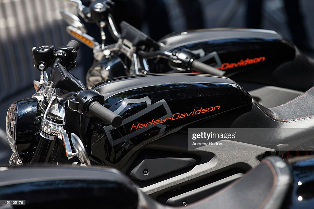 Harley Davidson Livewire motorcycles, Harley Davidson's first electric bike, sits on display outside the Harley Davidson Store on June 23, 2014 in New York City. The Livewire has 74 horsepower and a top speed of 92 miles per hour.