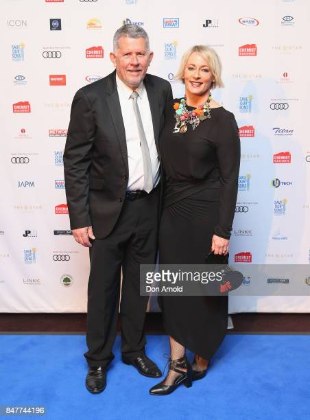 Harley Oliver and Amanda Keller attends the Save Our Sons Gala at The Star on September 16 2017 in Sydney Australia