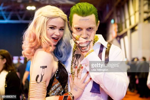 Harley Quinn and The Joker during the MCM Birmingham Comic Con at NEC Arena on March 18 2017 in Birmingham England