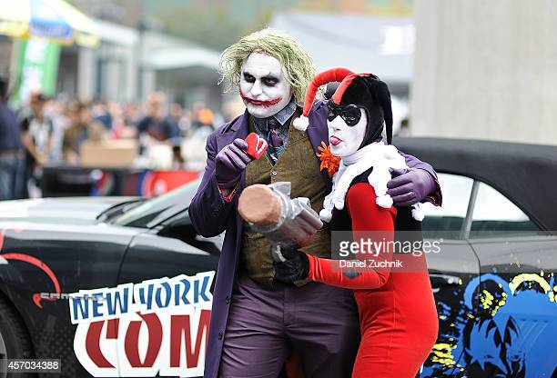 Harley Quinn and the Joker propose to eachother during the 2014 New York Comic Con at Jacob Javitz Center on October 10 2014 in New York City