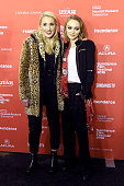 Harley Quinn Smith and LilyRose Depp attend the 'Yoga Hosers' Premiere during the 2016 Sundance Film Festival at Library Center Theater on January 24...
