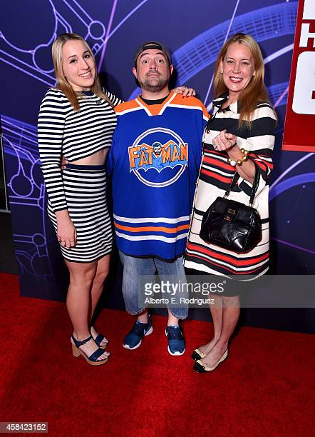 """Harley Quinn Smith director Kevin Smith and actress Jennifer Schwalbach Smith attend the Los Angeles Premiere of Walt Disney Animation Studios' """"Big..."""