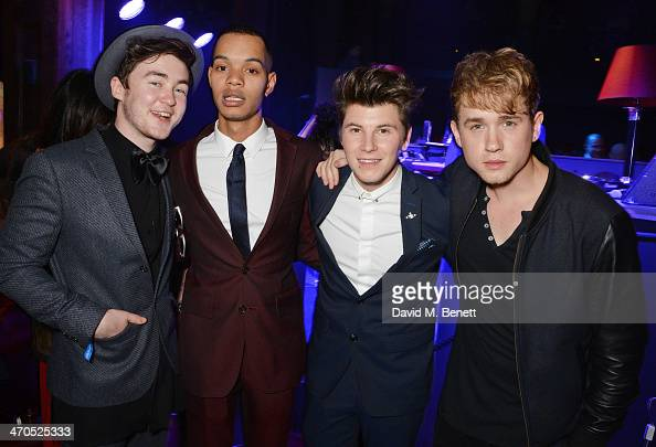 Harley 'Sylvester' AlexanderSule and guests attend the Universal Music Brits' After Party At Soho House PopUp on February 19 2014 in London United...