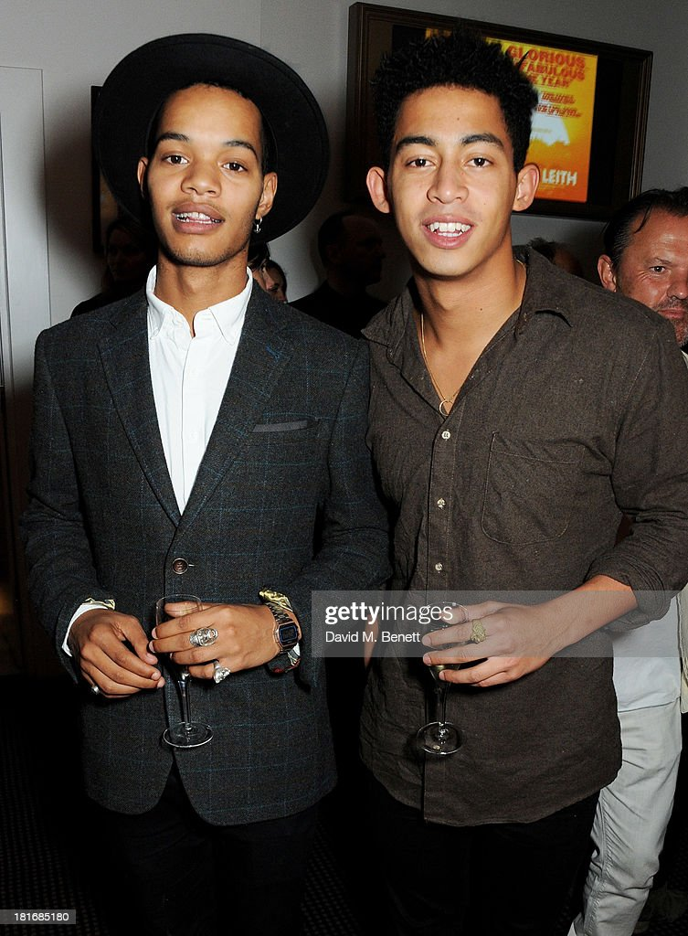 Harley 'Sylvester' Alexander-Sule (L) and Jordan 'Rizzle' Stephens attend a special screening of 'Sunshine On Leith', hosted by Jamie Oliver and Dexter Fletcher, at BAFTA on September 23, 2013 in London, England.