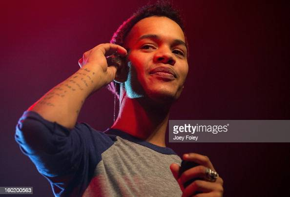Harley 'Sylvester' AlexanderSule of British hiphop duo Rizzle Kicks performs in concert at the Murat Egyptian Room on January 26 2013 in Indianapolis...