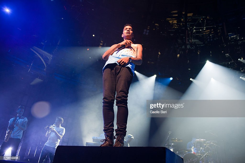 Harley 'Sylvester' Alexander-Sule of Rizzle Kicks performs on stage on Day 5 of iTunes Festival 2013 at The Roundhouse on September 5, 2013 in London, England.