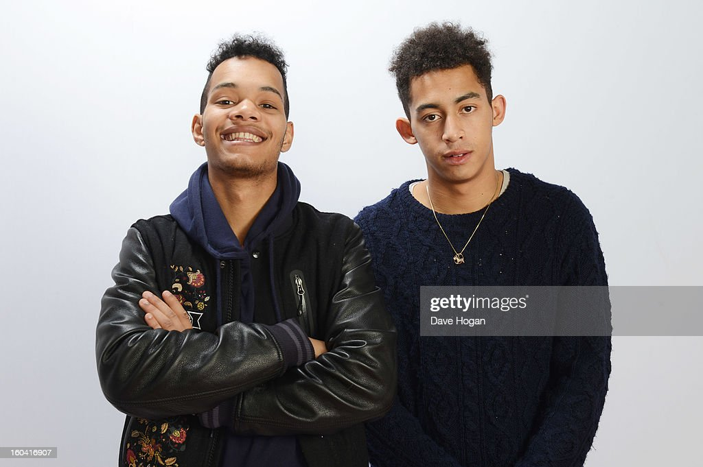 Harley Sylvester and Jordan Stephens of Rizzle Kicks pose for a portrait on December 8, 2012 in London, England.