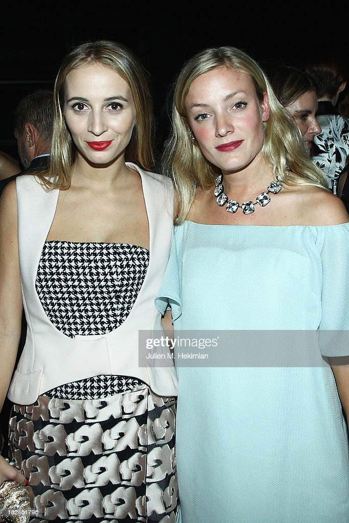 Harley Viera Newton (L) and Kate Foley attend the Glamour dinner for Patrick Demarchelier as part of the Paris Fashion Week Womenswear Spring/Summer 2014 at Monsieur Bleu restaurant on September 29, 2013 in Paris, France.