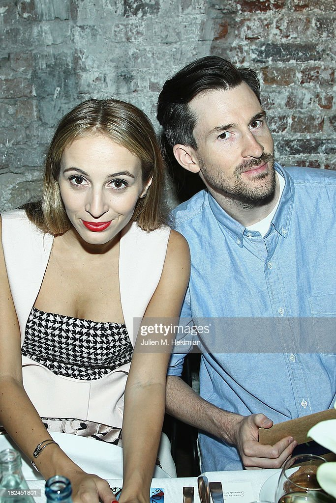 Harley Viera Newton and Ross Schwartzman attend the Glamour dinner for Patrick Demarchelier as part of the Paris Fashion Week Womenswear Spring/Summer 2014 at Monsieur Bleu restaurant on September 29, 2013 in Paris, France.
