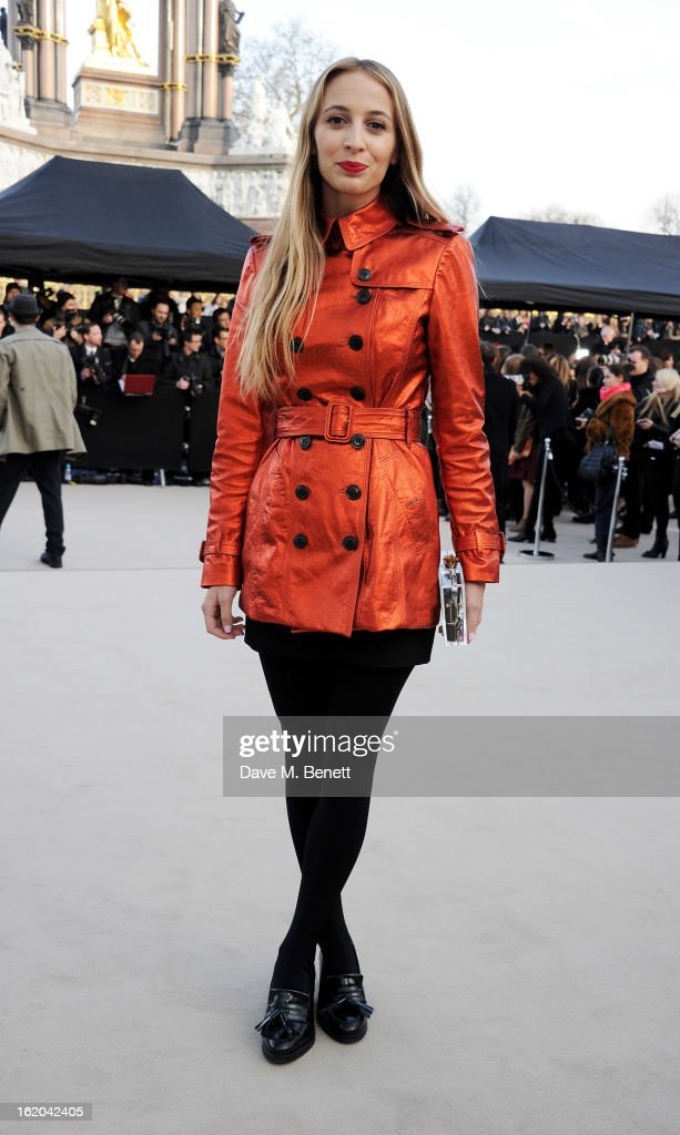 Harley Viera Newton arrives at the Burberry Prorsum 2013 Autumn Winter Womenswear Show at Kensington Gardens on February 18, 2013 in London, England.